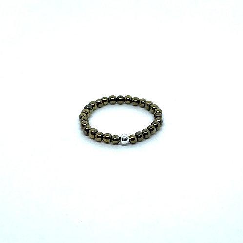 Semi-Precious Stone Ringlet-Pyrite