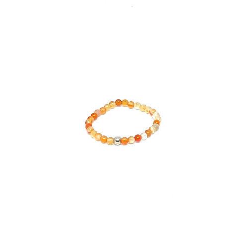 Semi-Precious Stone Ringlet-Carnelian