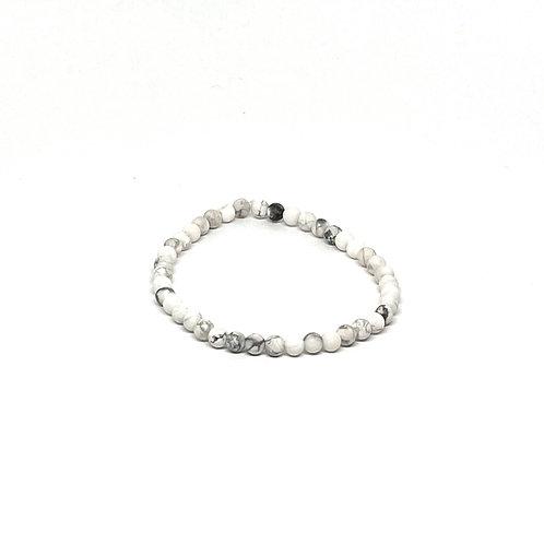 Semi-Precious Stone Bracelet-Howlite