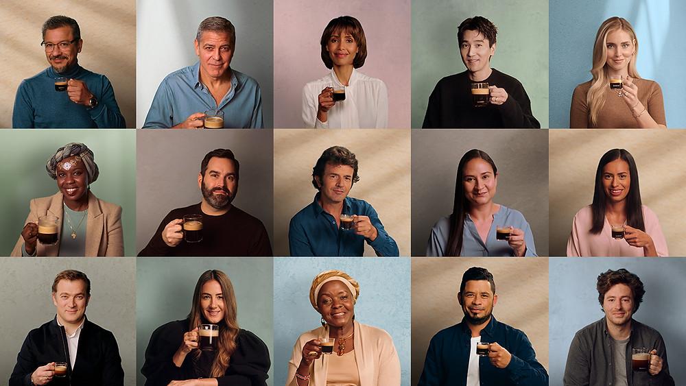 Estrelada por George Clooney, a campanha conta com a participação de vários integrantes da cadeia produtiva da Nespresso, além da participação de apoiadores da causa sustentável.