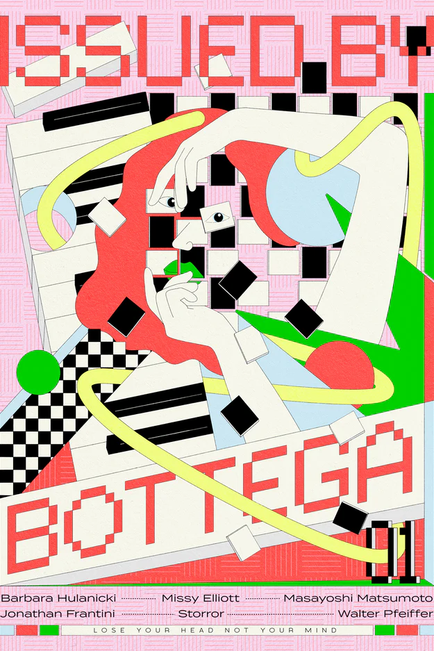 """A capa da revista online """"por Bottega Veneta"""". James Lacey."""