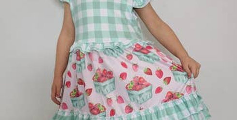 Plaid strawberry dress