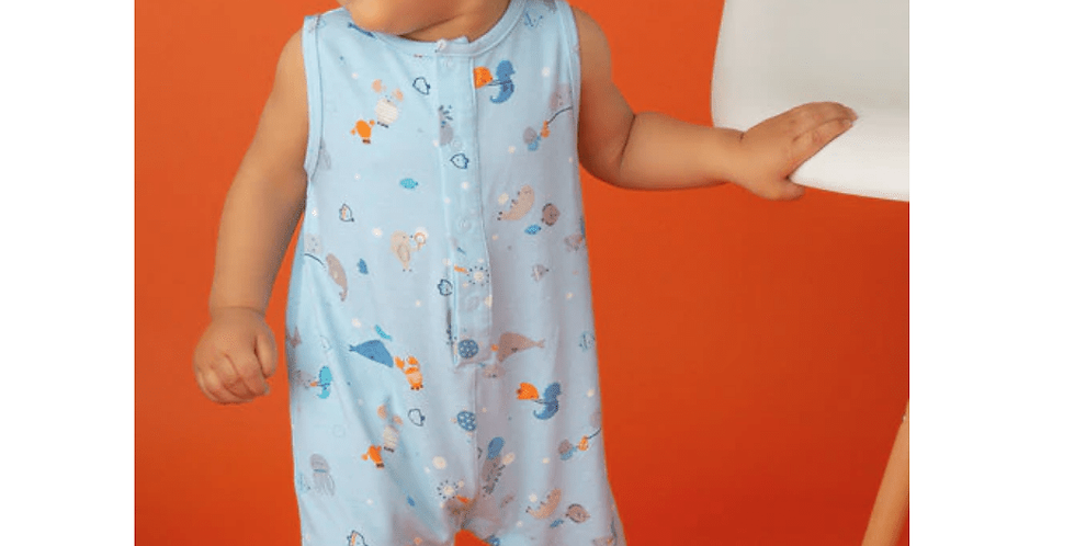 Happy Ocean Shortie Romper