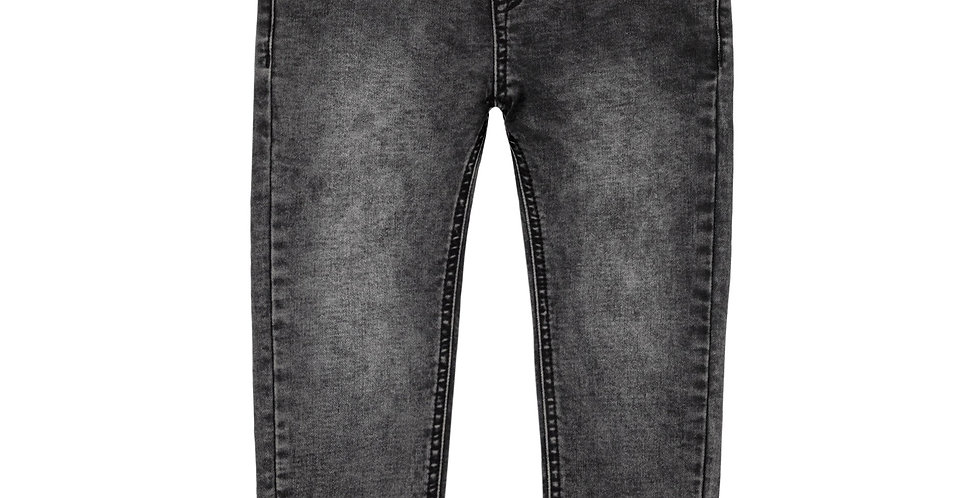 BLACK FRENCH TERRY DENIM JOGGER PANTS
