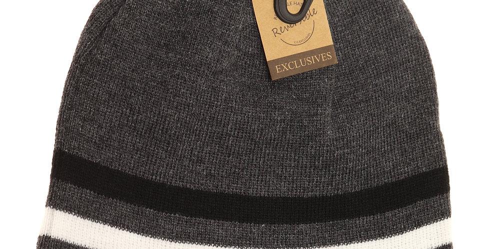 Dark grey reversible winter hat