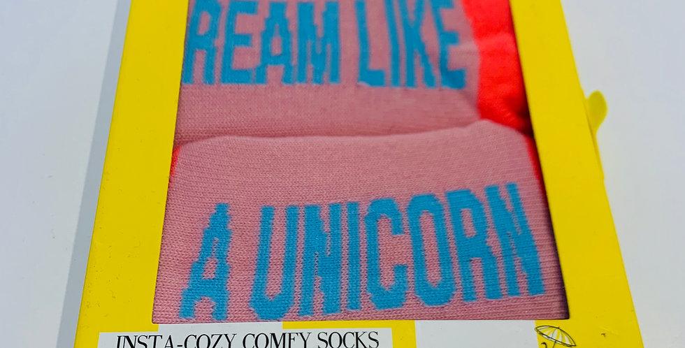 Dream Like A Unicorn Comfy socks