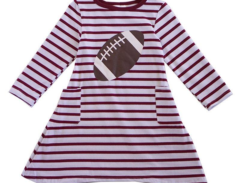 striped football twirl dress