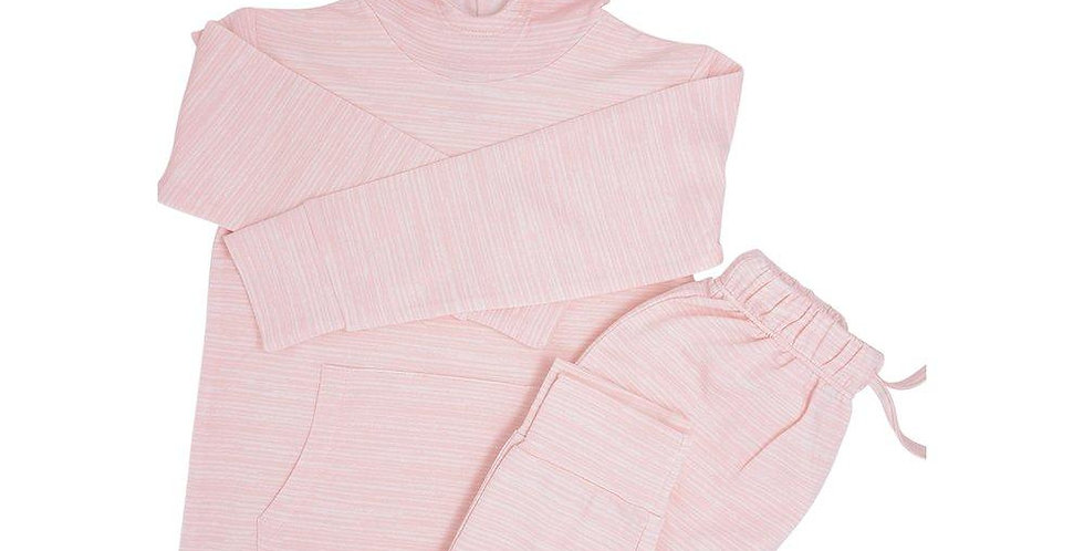 pink French terry jogger set