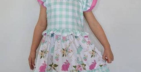 Plaid bunny dress