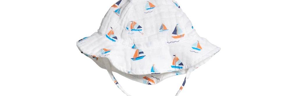 simple boat muslin sunhat