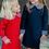 Thumbnail: Pointe Knit Navy Dress