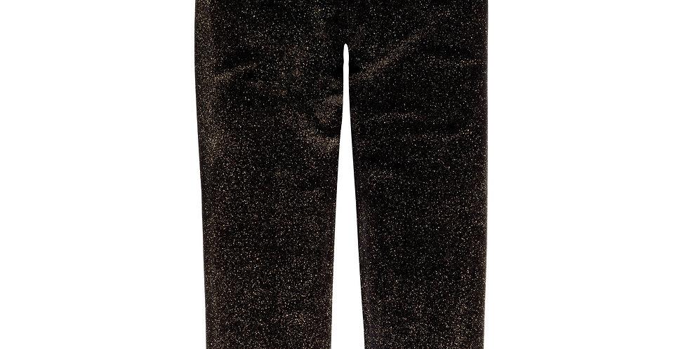 Black Sparkle Velvet Leggings