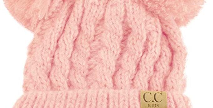 2 POM POMS knit hats