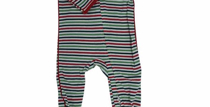 Christmas stripes zipper footy