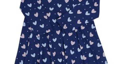 blue twirl dress with hearts