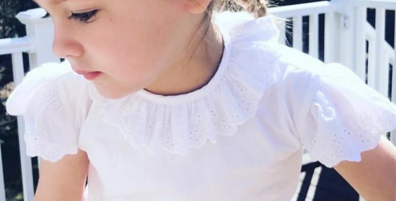 Capri White Eyelet Shirt