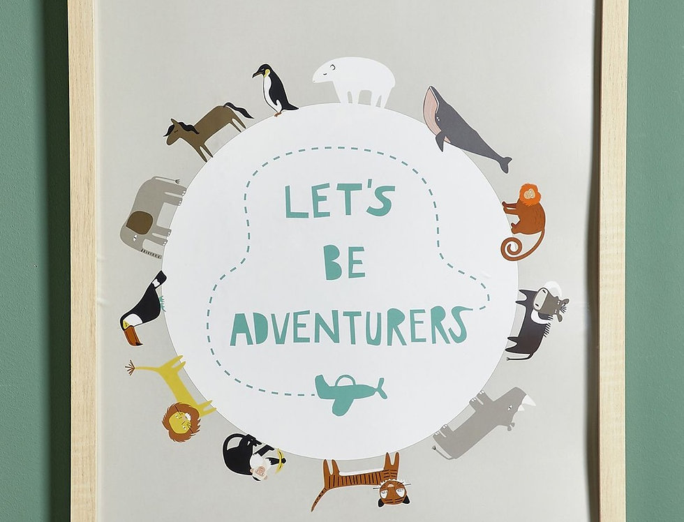 Let's Be Adventurers Wall Decor