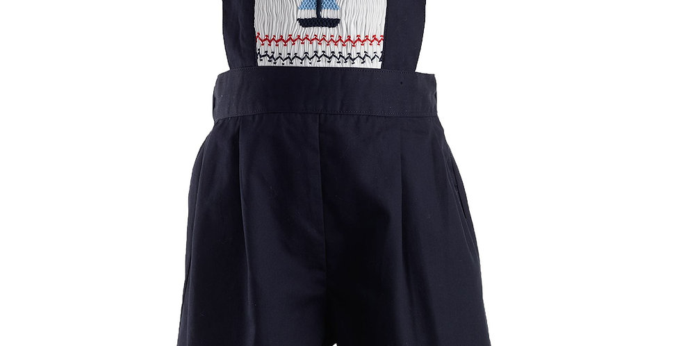 Rachel Riley Smocked sailboat Dungarees