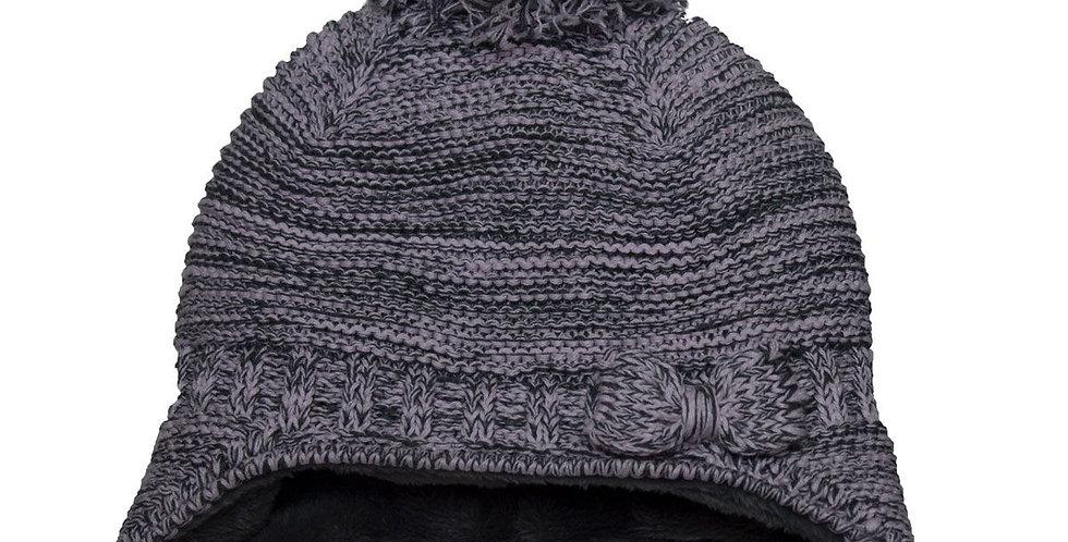 cotton knit bow hat