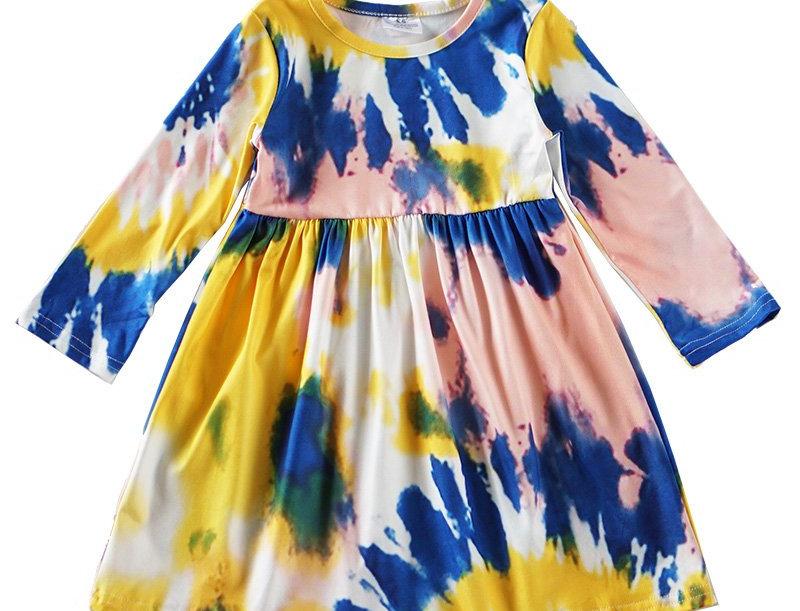 Light tie dye twirl dress