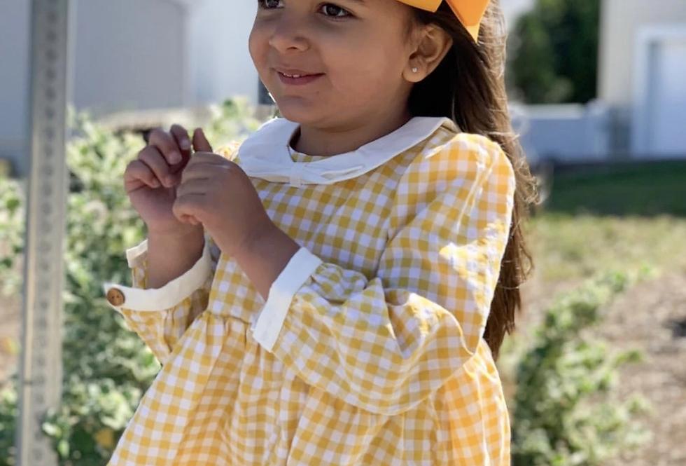 Gingham yellow dress