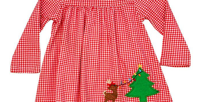 Christmas lights knit dress