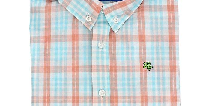 Roscoe Button Down Shirt-Seaside Plaid