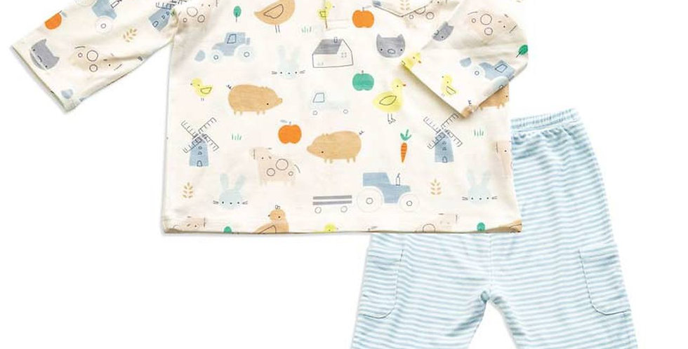 Little Farm Polo & Cargo Bamboo Pant Set