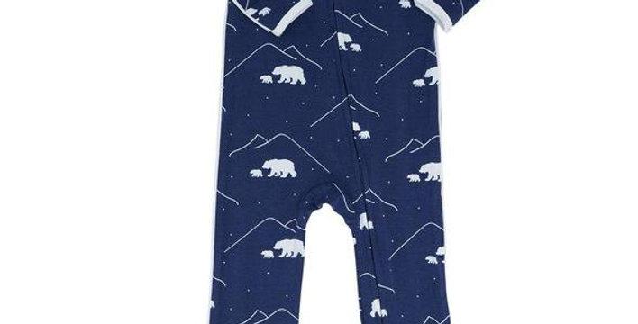 Polar Bear zipper footy