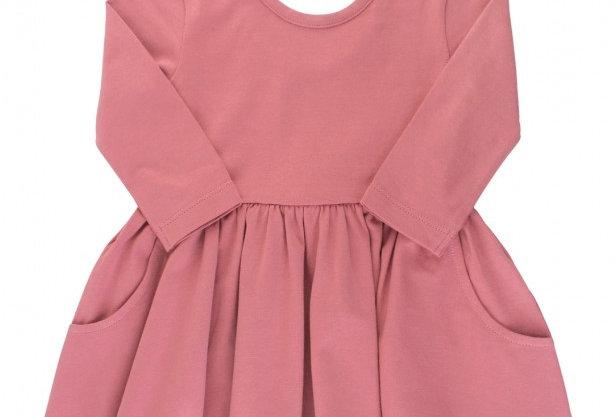 Mauve pink twirl dress