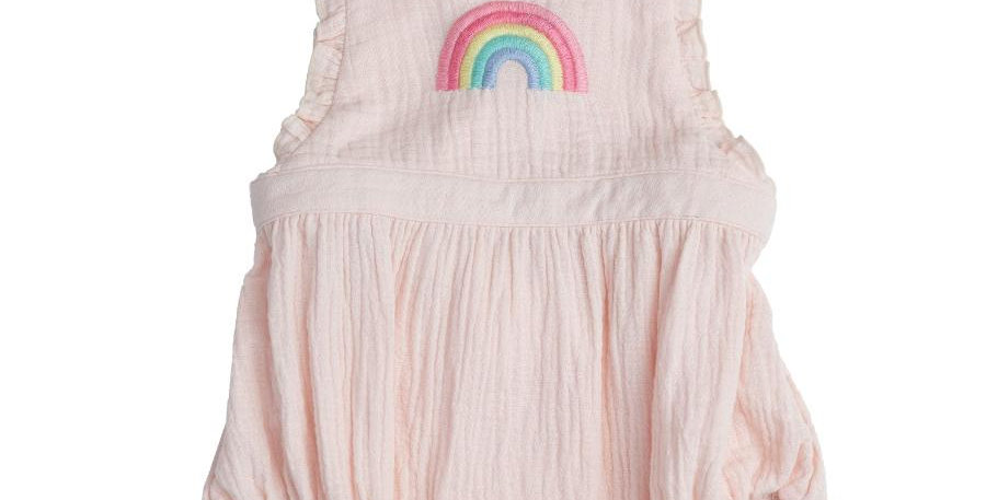 organic rainbow muslin bubble