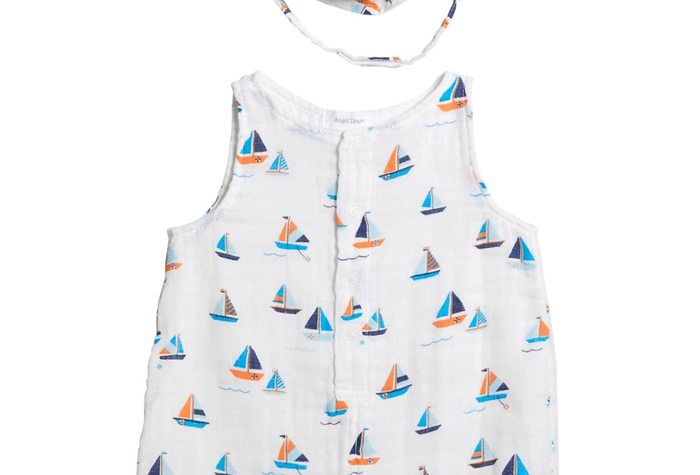 simple boat tank shortie romper