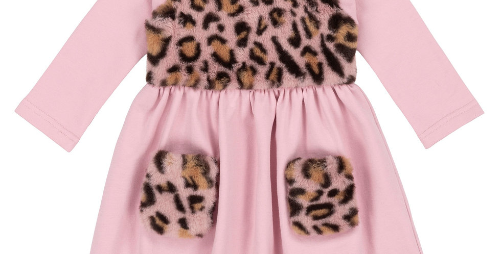 Soft Fleece Cheetah Dress