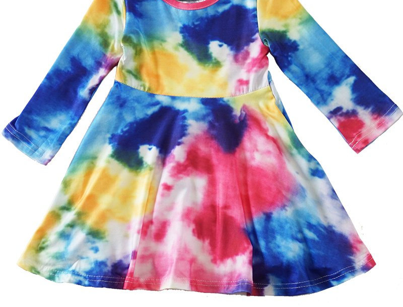 tie dye twirl dress