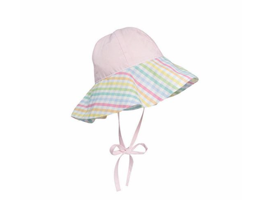 CISSY SUNHAT PLANTATION PINK WITH OLD PRESTON PLAID