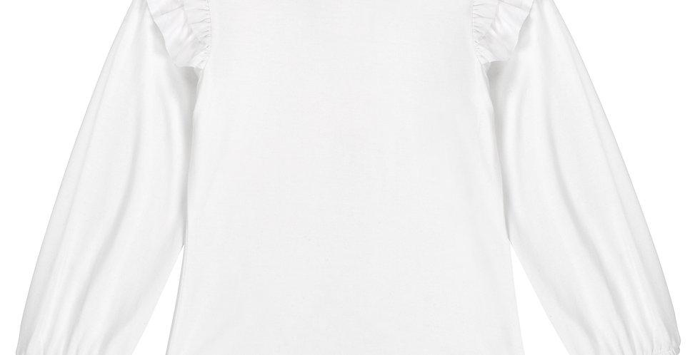 White soft jersey shirt