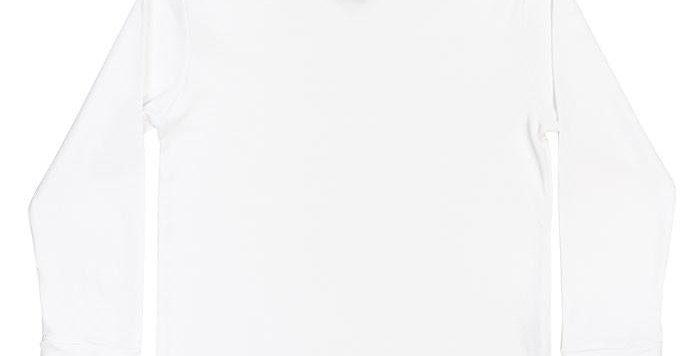 White Knit-Ruffled Turtle Neck