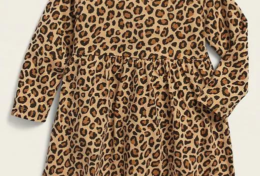 Leopard twirl dress