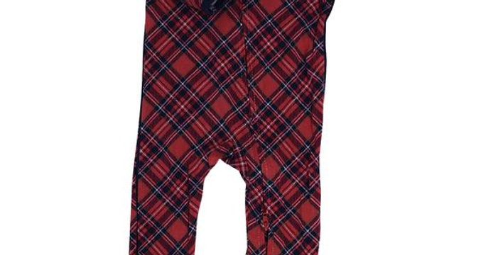 Red plaid zipper footy