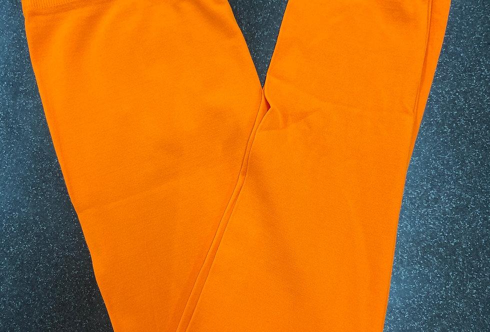 neon orange leggings