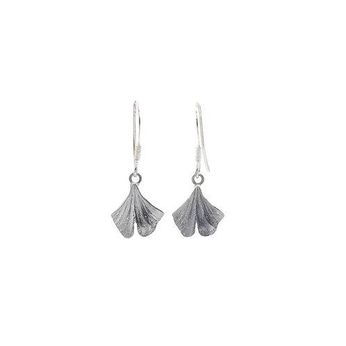 Tiny Gingko Leaf Drop Earrings