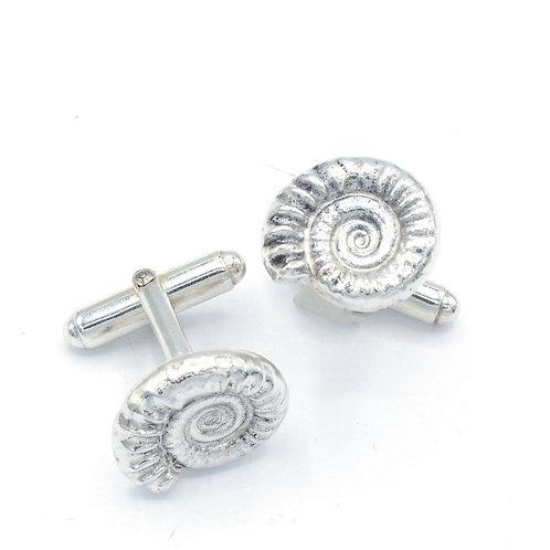 Fine Silver Ammonite Cufflinks