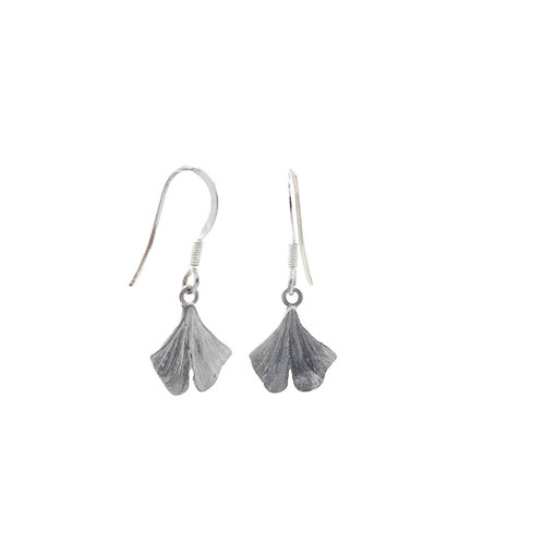 Small Gingko Leaf Drop Earrings