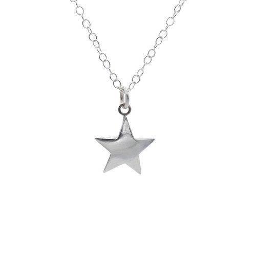 Medium Star Fine Silver  pendant