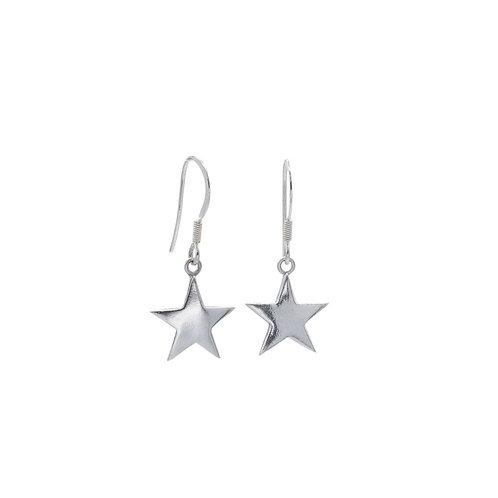Medium Star Drop Earrings