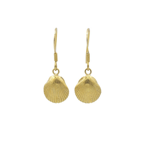 Scallop Shell Drop Earrings