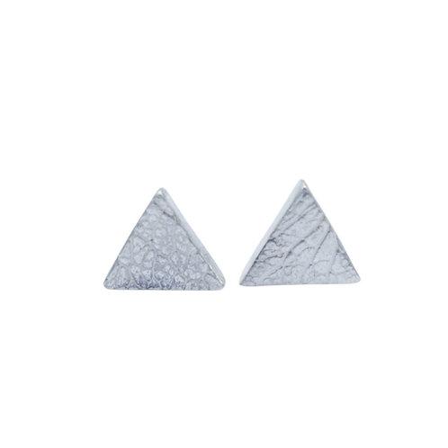 Triangle Leaf Skeleton Stud Earrings