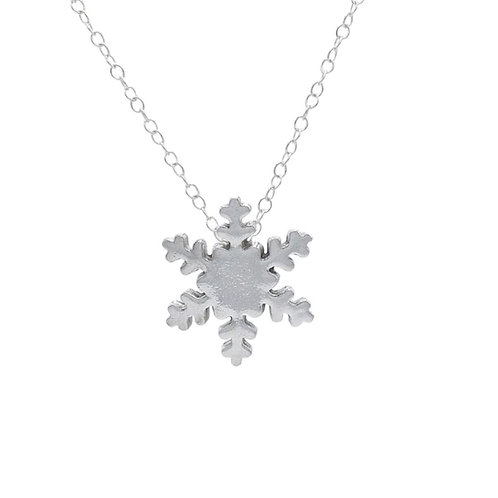 Snow Flake Pendant with Chain