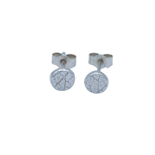 Round Leaf Skeleton Stud Earrings
