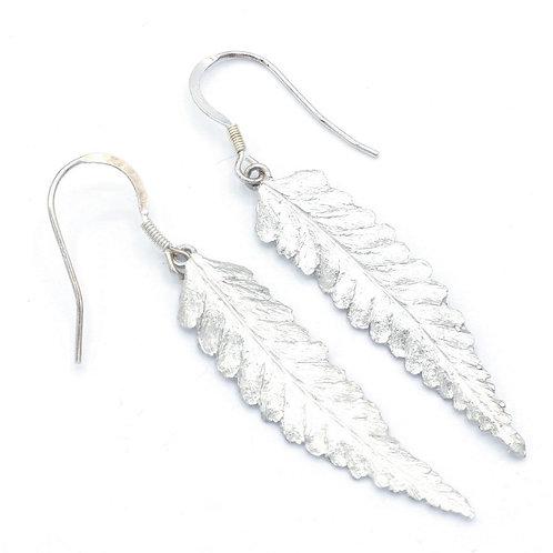 Medium Fern Drop Earrings